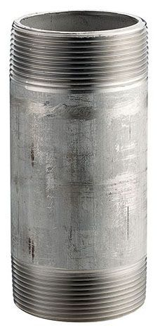 "1-1/2"" x 3"", MPT x MPT, Schedule 40, Lead-Free, Welded 304 Stainless Steel, Nipple"