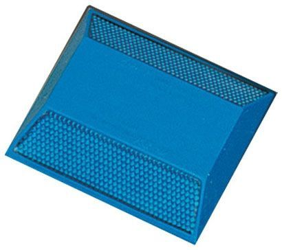 "3.89"" x 4.15"" x 0.76"", Blue, ABS, Prismatic, Retroreflective, 2-Way, Pavement Marker"