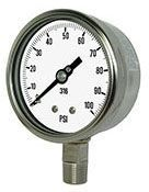 "0 to 300 PSI, 4"" Dial, 1/4"" MPT Lower, 316 Stainless Steel, Glycerin Filler, Process Gauge"