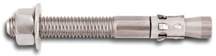 """1/2""""-13 UNC x 4-1/2"""", 1/2"""" Drill, Passivated, 304 Stainless Steel, 1-Piece, Fully Threaded, Wedge, Medium Duty, Stud, Expansion Anchor"""