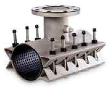 """8"""" Pipe, 6"""" Flanged Outlet, 8.6 to 9.05"""" OD, 250 to 300 PSI, SBR Gasket, Fabricated Stainless Steel Body/Flange, Tapping Sleeve"""