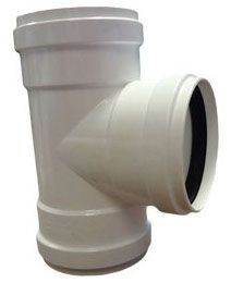 "6"" x 6"" x 6"", Gasketed x Gasketed x Gasketed, 10.8 PSI, SDR 26, PVC, Straight, 2-Way, Cleanout Tee"