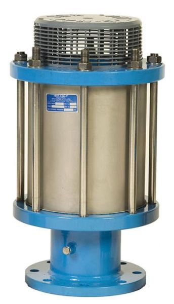 """2"""" MPT Inlet, 363 PSI, 304L Stainless Steel, Double Orifice, Anti-Shock Orifice Mechanism, Air Release Valve"""