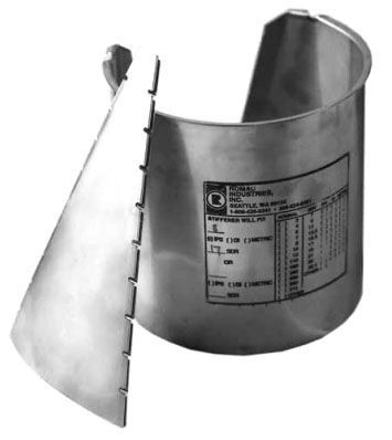 """8"""" DIPS, SDR 11, 304 Stainless Steel, Stiffening Insert for HDPE Pipe"""