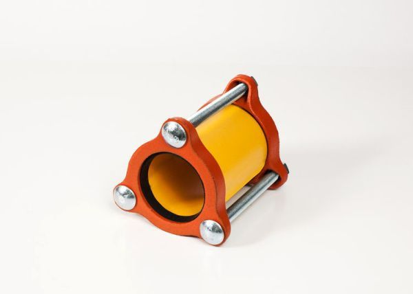 """1-1/2"""" x 1-1/2"""", 5"""" L Center Ring, 1.9"""" Pipe OD, 200 PSI, Fusion Bonded Epoxy Coated, Steel, Lightweight, Straight, Coupling"""