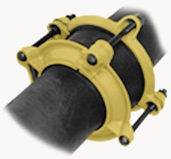 """12"""" Pipe, 13.2"""" OD, 13.5"""" OD and 13.65"""" OD, 150 PSI, Shop Coated, Ductile Iron, SBR Gasket, Bell Joint Leak, Pipe Repair Clamp"""