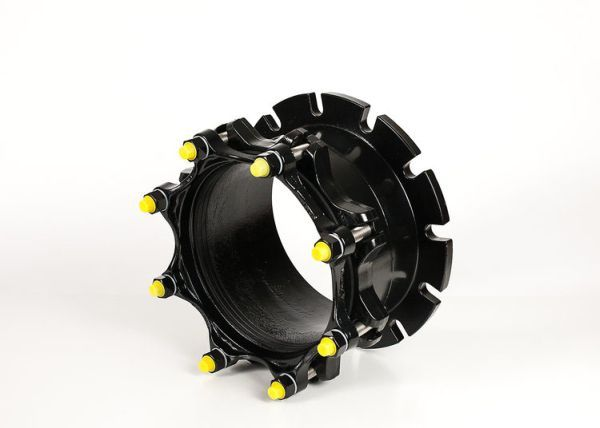 """4"""", 4.5 to 4.8"""" OD, Flanged x Plain End, 275 PSI, Fusion Bonded Epoxy Coated, Ductile Iron, Coupling Adapter with Mechanical Joint Gland"""