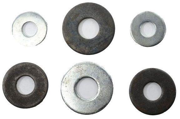 "5/8"", Plain, Steel, Flat Washer"