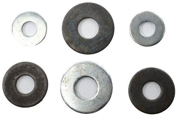 "5/8"", Plain, Steel, Flat Washer"