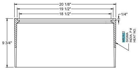"""20-1/8"""" x 10-1/2"""" x 9-3/4"""", Black Bituminous/Tar Coated, Cast Iron, Water Meter Logo, Meter Box Lid"""