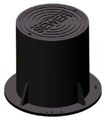 """8-1/8"""" x 3-1/4"""", Cast Iron, Logo Water, Lid for Greenville Valve Box"""