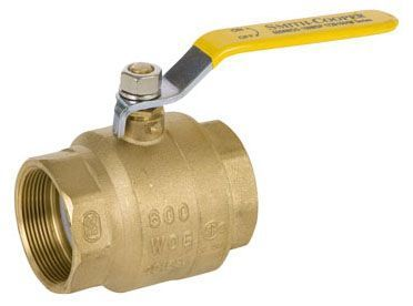 """2"""", FPT x FPT, 600 PSI CWP/150 PSI SWP, Lead-Free, Zinc Plated Forged Steel Lever Handle, Chrome Plated Brass Ball, Brass Body, Full Port, Ball Valve"""