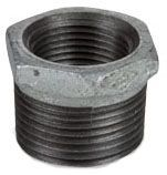 """2-1/2"""" x 3/4"""", MPT x FPT, 300 PSI, Lead-Free, Hot Dip Galvanized, Malleable Iron, Outside Hex Head, Reducing, Bushing"""