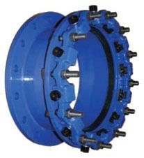 "6"", 6.9"" OD, Flanged x Flanged, 175 PSI, Flexi-Coat Fusion Bonded Epoxy, Carbon Steel, Restrained Coupling Adapter"