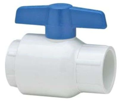 "1"", Socket x Socket, 150 PSI, Schedule 80, High Impact Polypropylene 1/4 Turn T-Handle, Injection Molded Grey PVC Ball/Body, Utility, Full Bore, Ball Valve"