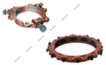 """6"""", Ductile Iron, Import, Wedge Action, Restraint for IPS/Mechanical Joint AWWA C900 PVC Pipe"""