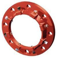 "12"", 13.2"" OD, 250 PSI, Coral Red, Ductile Iron, Import, Flange Adapter"