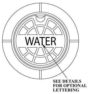 "7.25"" Diameter, Cast Iron, Logo Less Water, Lid for Valve Box"