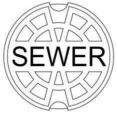 "7.37"" x 3.5"", 5-1/4"" Shaft, Cast Iron, Standard, Logo Sewer, Lid for Valve Box"
