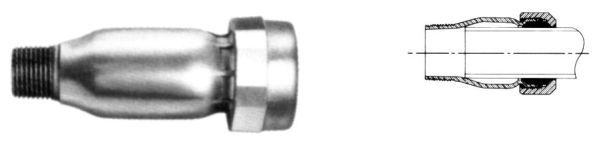 """3/4"""" x 3/4"""", MPT x Compression, 150 PSI, Electrogalvanized, Straight, Adapter"""