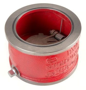 """4"""", Wafer x Wafer, 250 PSI WOG, Ductile Iron, Check Valve"""