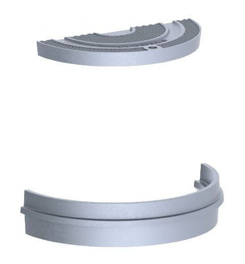 "21-3/4"" x 4-1/2"" Ring, 19-1/2"" x 1-5/8"" Cover, Grey, Cast Iron, Light Duty, Gasket, Camlock, Round, Manhole Ring and Cover"