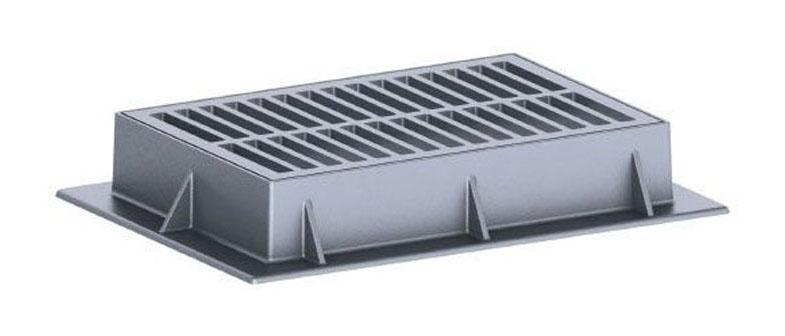 """44"""" x 31-3/4"""" x 7"""" Frame, 35-3/4"""" x 23-3/4"""" x 1-3/4"""" Grate, Grey, Cast Iron, Heavy Duty, Catch Basin Frame and Grate"""