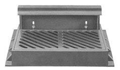 """43"""" x 31-3/8"""" x 7"""" Frame, 35-3/4"""" x 23-3/4"""" x 1-3/4"""" Grate, 36-1/2"""" Hood, Grey, Cast Iron, Heavy Duty, Curb and Gutter Inlet Frame"""