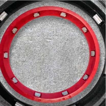 "10"", 350 PSI, Red Rubber, Gasket for Push-On Pipe Restraint"