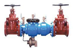 """2-1/2"""", Flanged x Flanged, 175 PSI, Lead-Free, Epoxy Coated, Ductile Iron, Reduced Pressure, Backflow Preventer with Outside Screw and Yoke Gate Valve"""