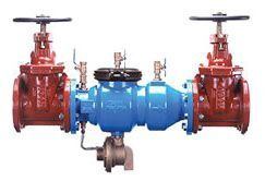 """4"""", Flanged x Flanged, 175 PSI, Lead-Free, Epoxy Coated, Ductile Iron, Reduced Pressure, Backflow Preventer with Outside Screw and Yoke Gate Valve"""