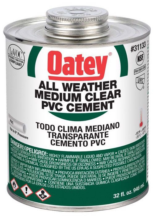 Oatey All Weather Clear PVC Cement - 1 Qt