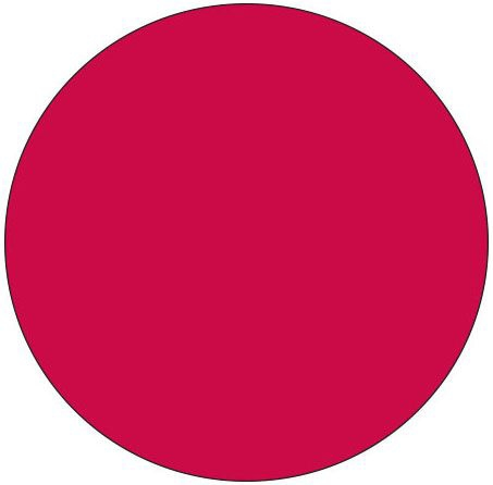 "SHA SDL12521 1-1/4"" Diameter, Dark Red Background, Litho, Permanent Adhesive, Dot Label (1000 per Pack)"