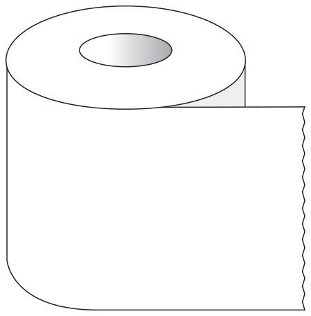 """SHA ST101 1"""" x 500"""", 1"""" Core, White, Removable Adhesive, Color Coded, Multi-Purpose Labeling Tape"""