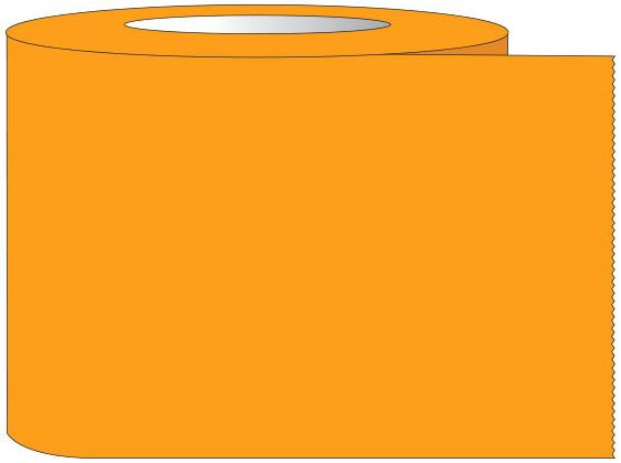 "SHA ST10028 1"" x 60 YD, 3"" Core, Fluorescent Orange, Removable Adhesive, Color Coded, Multi-Purpose Labeling Tape"