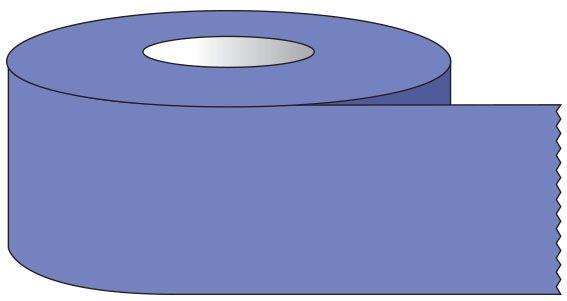 "SHA ST1213 1/2"" x 500"", 1"" Core, Lavender, Removable Adhesive, Color Coded, Multi-Purpose Labeling Tape"