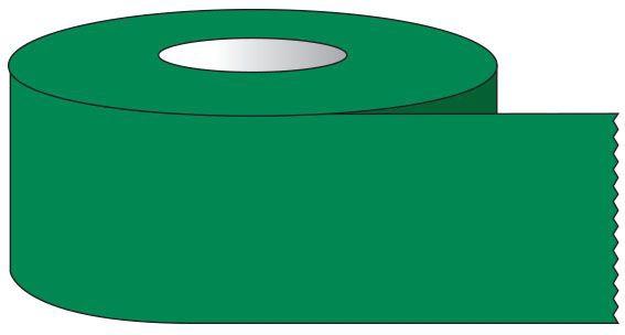 "SHA ST1225 1/2"" x 500"", 1"" Core, Dark Green, Removable Adhesive, Color Coded, Multi-Purpose Labeling Tape"