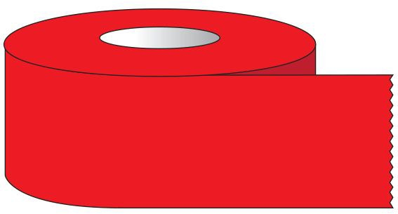 """SHA ST124 1/2"""" x 500"""", 1"""" Core, Red, Removable Adhesive, Color Coded, Multi-Purpose Labeling Tape"""