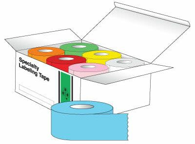 """SHA ST12RNBW 1/2"""" x 500"""", 1"""" Core, White/Yellow/Green/Red/Orange/Blue/Pink, Removable Adhesive, Color Coded, Rainbow Pack, Multi-Purpose Labeling Tape (24 per Carton)"""