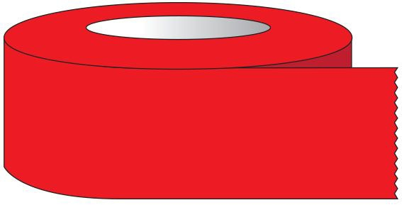 """SHA ST1204 1"""" x 60 YD, 3"""" Core, Red, Removable Adhesive, Color Coded, Multi-Purpose Labeling Tape"""