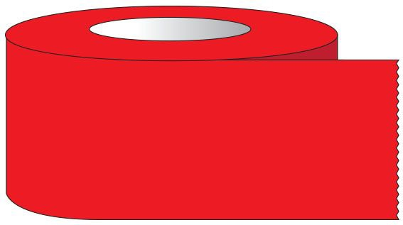 """SHA ST3404 3/4"""" x 60 YD, 3"""" Core, Red, Removable Adhesive, Color Coded, Multi-Purpose Labeling Tape"""