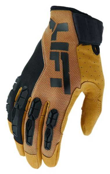 Large Brown Synthetic Leather TPR Wrist Closure Grunt Glove - Pro Series