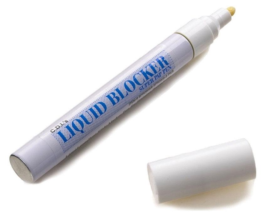 CAN SPR09055 White, Regular Tip, Liquid Blocker, Super Pap Pen (5 per Pack)