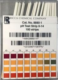 FIS 88801 Solid, 0 to 14, pH Test Strip (100 per Box)
