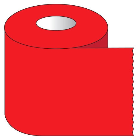 """SHA ST104 1"""" x 500"""", 1"""" Core, Red, Removable Adhesive, Color Coded, Multi-Purpose Labeling Tape"""