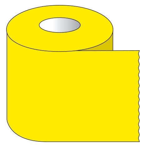 """SHA ST112 1-1/2"""" x 500"""", 1"""" Core, Yellow, Removable Adhesive, Color Coded, Multi-Purpose Labeling Tape"""