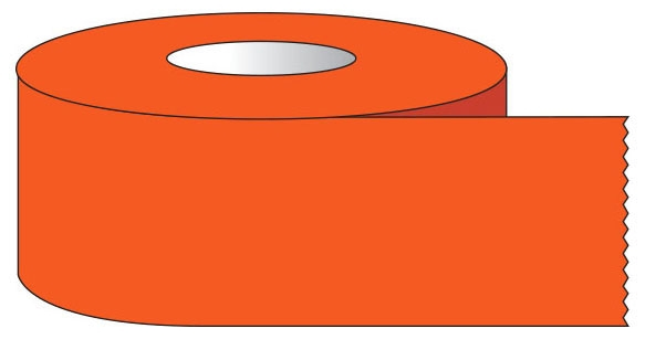 """SHA ST1227 1/2"""" x 500"""", 1"""" Core, Fluorescent Red, Removable Adhesive, Color Coded, Multi-Purpose Labeling Tape"""