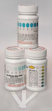 FIS 14376163 Chlorine Micro Check Test Strip (50 per Bottle)