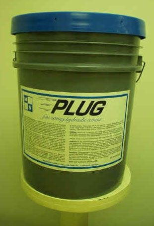50 Lb Pail, 45 to 90 Sec Hot Mix, MS-Plug Hydraulic Cement