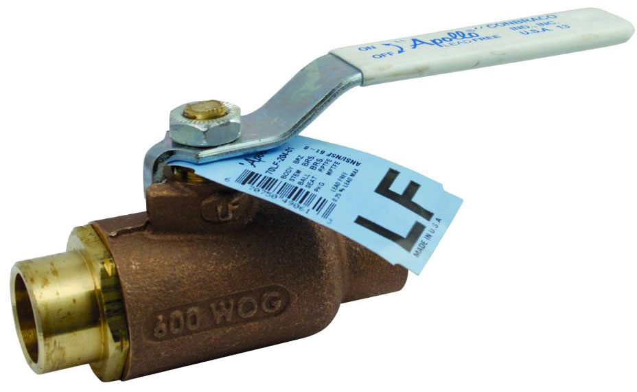 "70LF-205-01 1"" APOLLO LEAD FREE 2PC BRONZE COPPER SWEAT BALL VALVE 600WOG STD PORT MODEL #: 70LF20501"